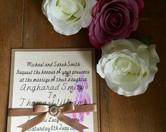 Orchid wedding invitation packs