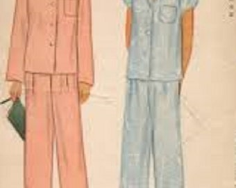 "Vintage Misses' Pajamas McCall 5450 (1943) Size 14 (Bust 32"")"