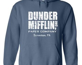Dunder Mifflin costume tv show office party college halloween retro vintage - Apparel Clothing - Hoodie - Hooded Sweatshirt - 072