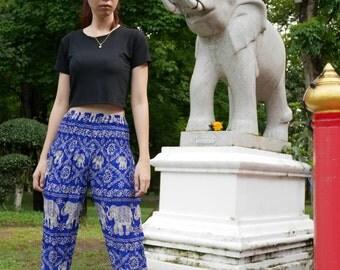 Thai fisherman pants Thai elephant pants Tribal pants 70s vintage pants Harem hippie pants 90s vintage pants