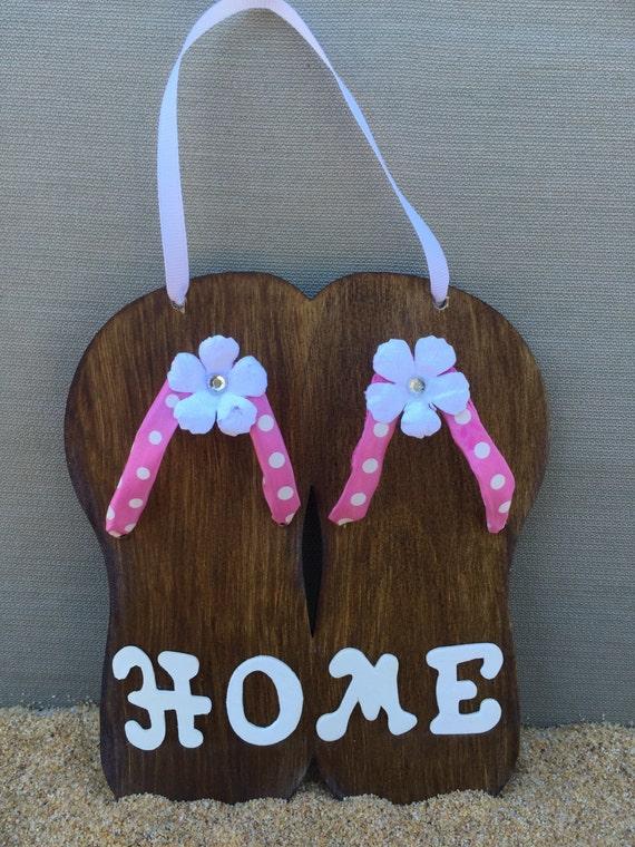 home sign flip flops flip flop sign home decor wood sign