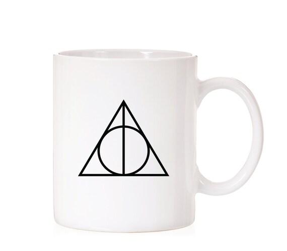 Harry Potter Deathly Hallows Symbol  | Harry Potter Mug | Harry Potter Inspired  | Hogwarts | Fandom