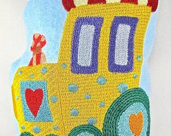 Fuzzy Friends Zoo Train In The Hoop Projects  ( 10 Machine Embroidery Designs from ATW ).ev07