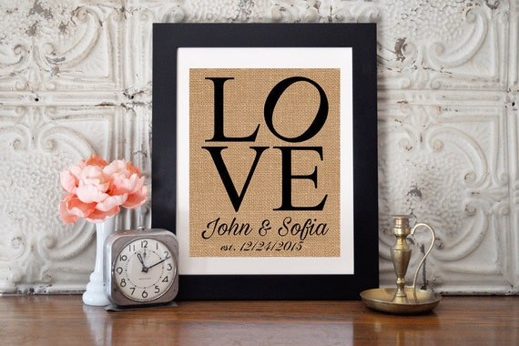 Wedding Anniversary Gifts For Couples: Anniversary Gift Wedding Gift For Couple By ThePurpleRainStore