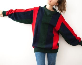 90s Vintage Striped Sweater