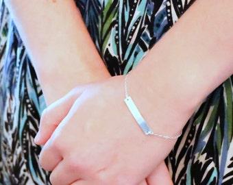 Personalized Bar Bracelet, Wedding Date Bar Bracelet, Mom Bar Bracelet, Custom Bar Bracelet Gold Bar Bracelet, Silver Gold or Rose Gold Fill