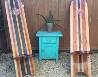 Wooden Surfboard Chairs