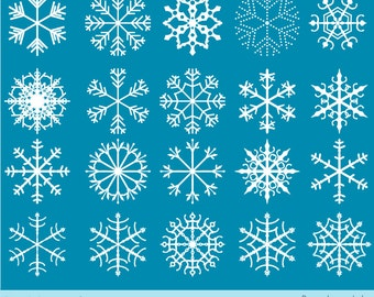 White snowflake clipart, Winter clip art, Christmas frozen snowflake