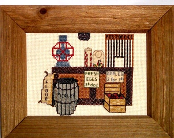 Cross Stitch, Kitchen, Small Frame, Vintage
