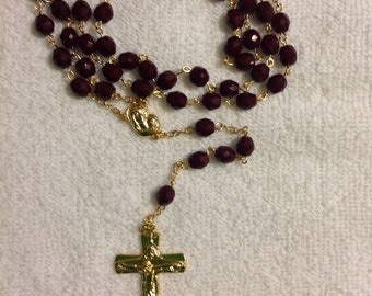 Glass rosary beads