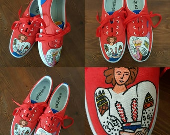La Blouse Roumaine after Matisse hand painted sneakers shoes/Vans upgrade by request.