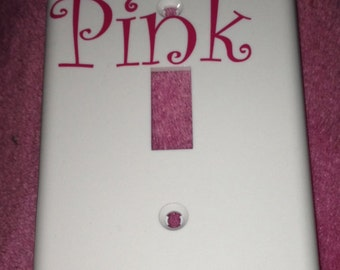 Pink light switch cover