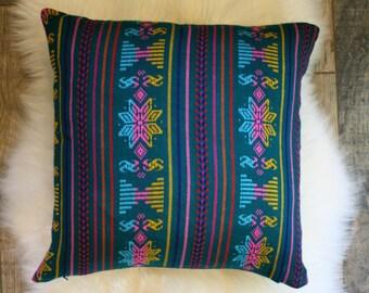 Teal + Denim Pillow Cover