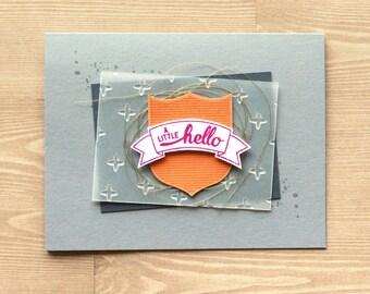 A Little Hello Handmade Card