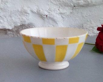Vintage French coffee bowl, 1930s café au lait cup.