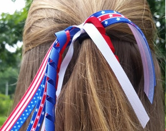 Fourth of July Hair Tie Bow