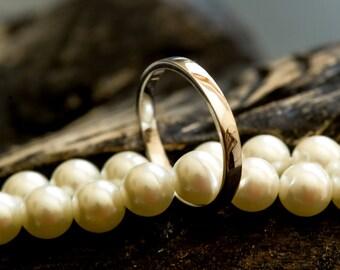 Platinum 950 Flat profile Wedding Band 2mm Width Wedding Ring