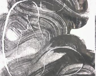 Impression et collage - femme -fg.Eveils - 115