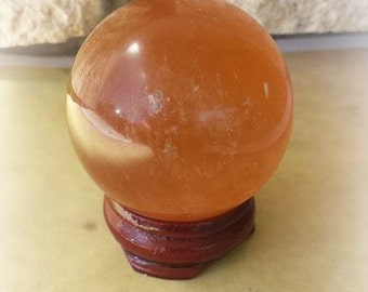 Citrine Crystal Ball, 40 mm Citrine Sphere, Healing Crystals, Witchcraft Supplies, Citrine Stones, Metaphysical Supplies, Crystal Healing
