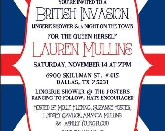 A British Invasion: Party Invitation