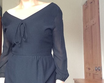 Black 60s formal dress
