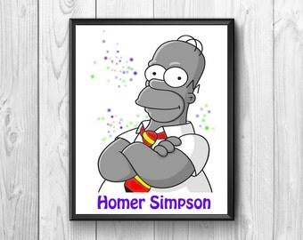 Homer simpson, homer simpson print, poster Homer Simpson, Homer Simpson mythical