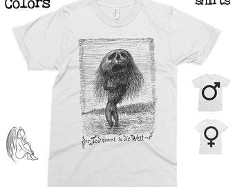 Death Comes to the World - Alfred Kubin T-shirt, Tee, American Apparel, Artist, Art, Illustration, Walter Crane, Kokoschka, Cute Gift