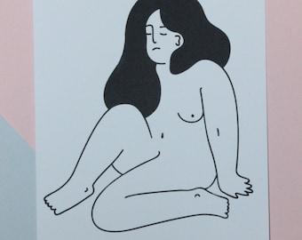 Naked Lady Print