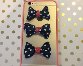 iPhone 6/6S Plus Polka Dot Bow Phone Case