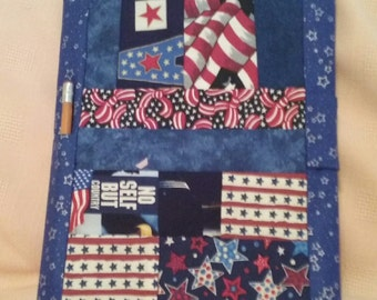 Patriotic Book Cover with Composition Book