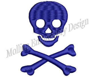 Skull Logo Machine Embroidery Design 5 Size