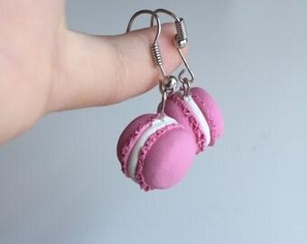 French Macaron Fish Hook Earrings