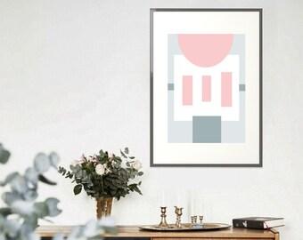 Mid Century Abstract - Scandi Pastel