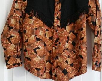 Boys Western Shirt Geometric Design