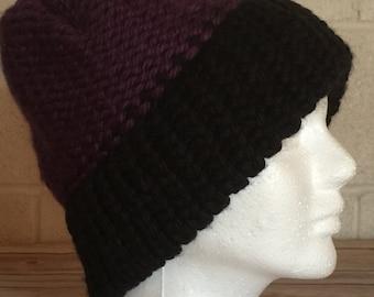 Black Brim Purple Hat