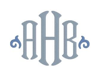 Sheridan Monogram Font, 3 inch