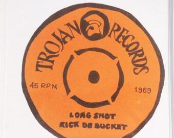 Trojan Records - Long Shot Kick De Bucket Handmade Card