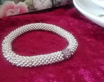 Lilac snowflake link sparkle bracelet