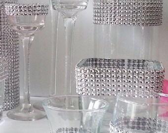 Rhinestone Vases/Candle Holders