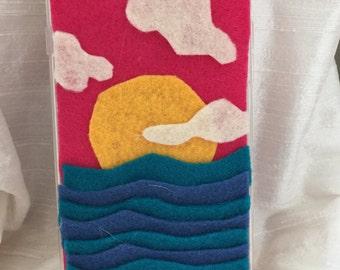 Felt iPhone 6 Plus Case___Seaside Sunset
