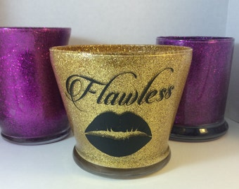 Flawless Glitter Makeup Brush Holder
