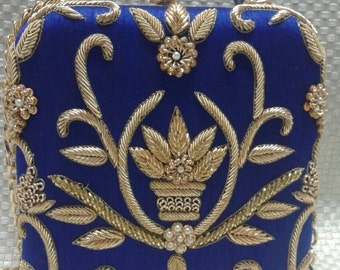 Vintage Square Embroidered Clutch