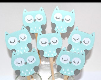 Baby Owl Cupcake Toppers