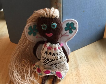 Spring Fairy Knitted Doll