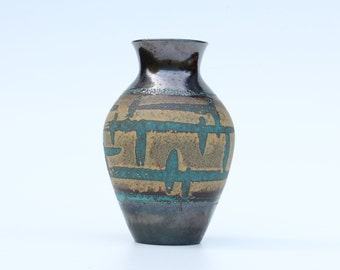 Beautiful Carstens 1245-25 vase with turquoise decoration-West Germany-Retro German ceramic