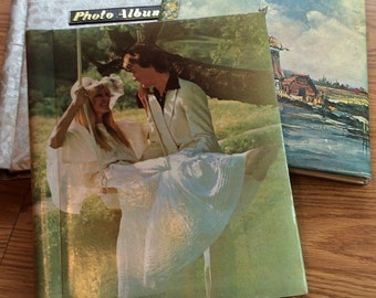 Vintage photo albums set of 3