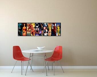 LARGE Marvel Comics vs. DC Comics  Poster / Marvel Comics / DC Comics / Super Heroes Poster