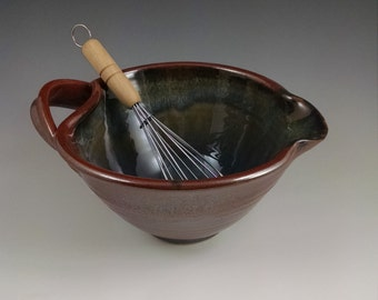 Rust Red and Breakfast Blue Whisk Bowl