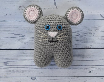Crochet Mouse, Mouse Toy, Stuffed Animal Mouse, Mouse Plush, Amigurumi Mouse, Stuffed Mouse, Handmade Toy, Gender Neutral Gift, McCoy Mouse