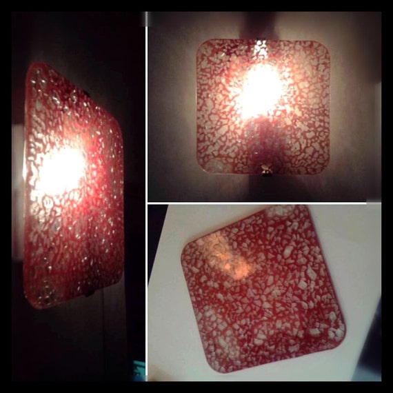 Red square Wall lamp
